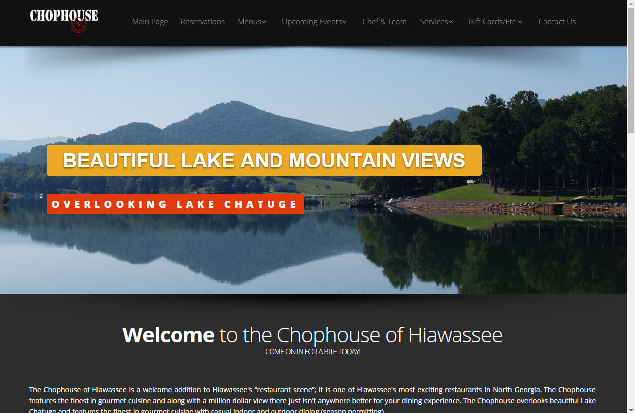 hiawassee chophouse